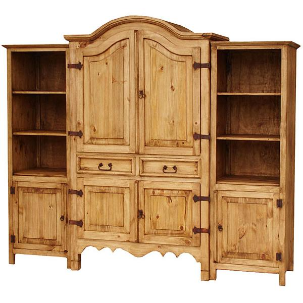 Rustic pine collection sierra entertainment center for Pine furniture