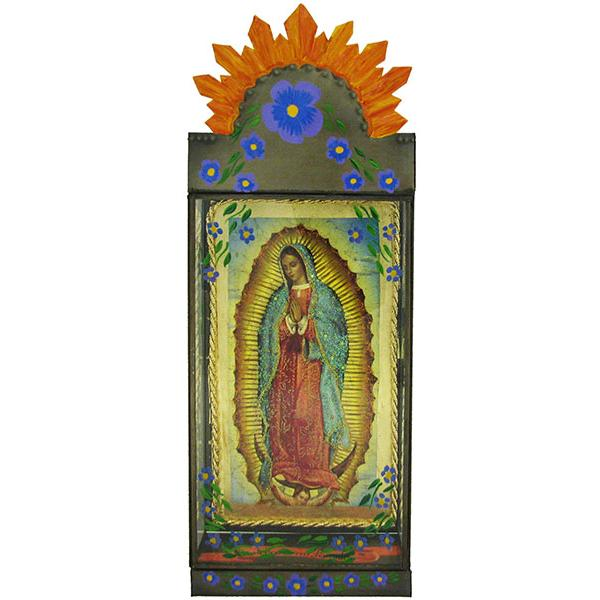 Tin amp glass nichos collection virgen de guadalupe nicho tgn010
