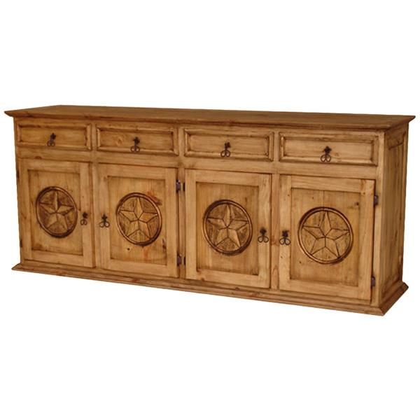 Rustic pine collection xl texas sideboard com509 for Sideboard xl