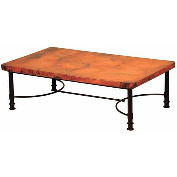Copper Top Rectangular Coffee Table: Patti Coffee Table
