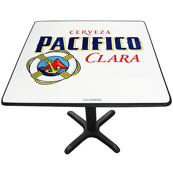 Pacifico Clara Metal Pedestal Table
