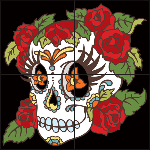decorative tile collection day of the dead tile mural