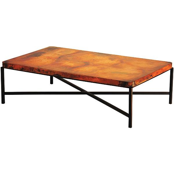 Copper Top Rectangular Coffee Table: Copenhagen Coffee Table