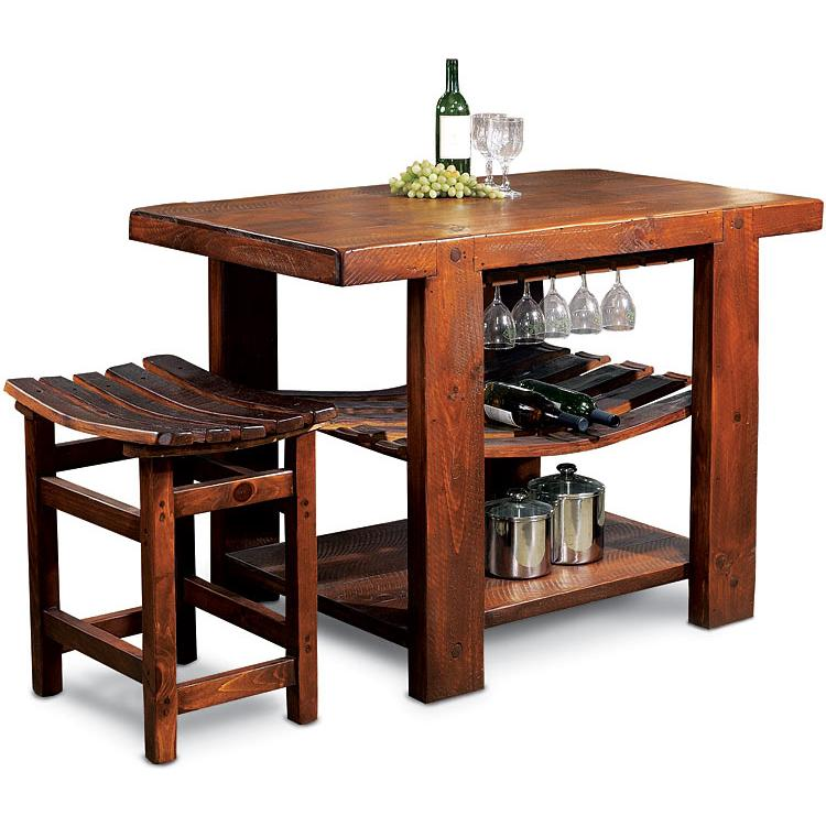 Dining tables islands russian river kitchen island wv105 for Kitchen island dining table