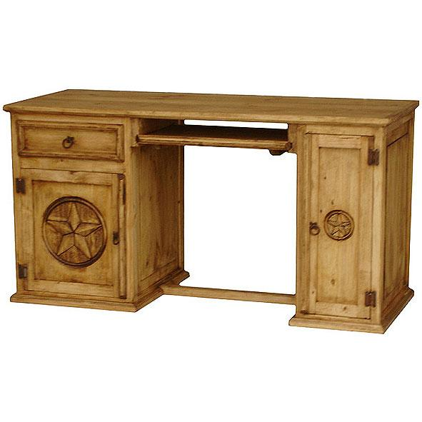 Rustic Wood Furniture Desk ~ Rustic pine collection star computer desk esc