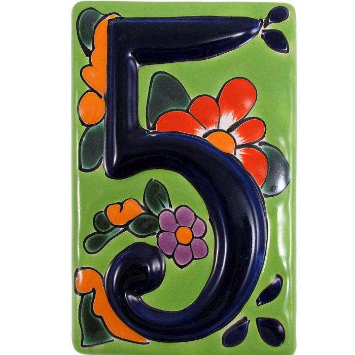 House Number 5:Green Talavera