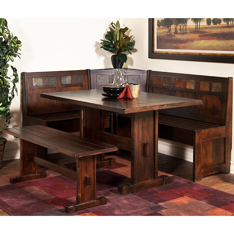 Santa fe collection santa febreakfast nook set 0230dc Breakfast nook table