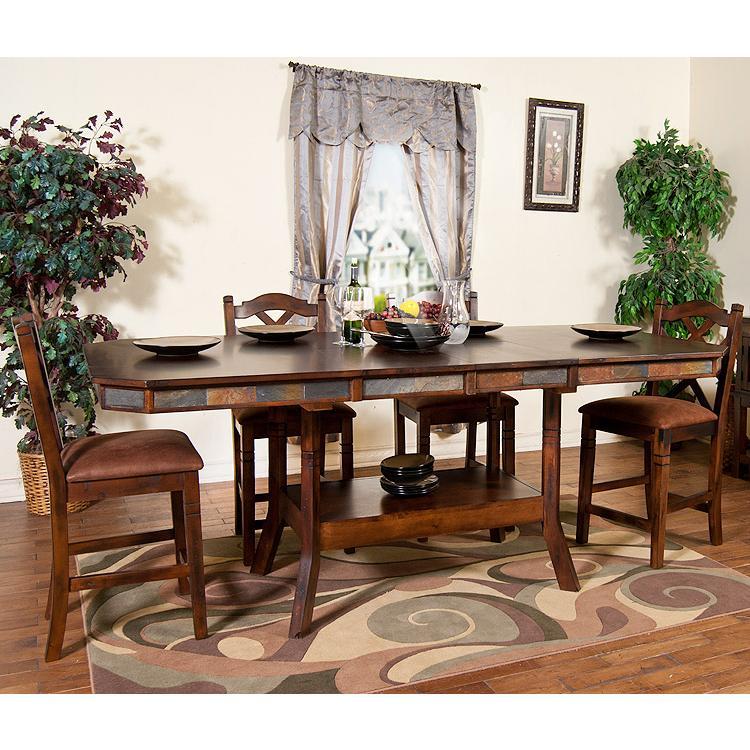 Rustic Santa Fe Adjustable Table w/Leaf