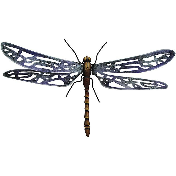 Painted wall art dragonfly pla23 for Dragonfly wall art