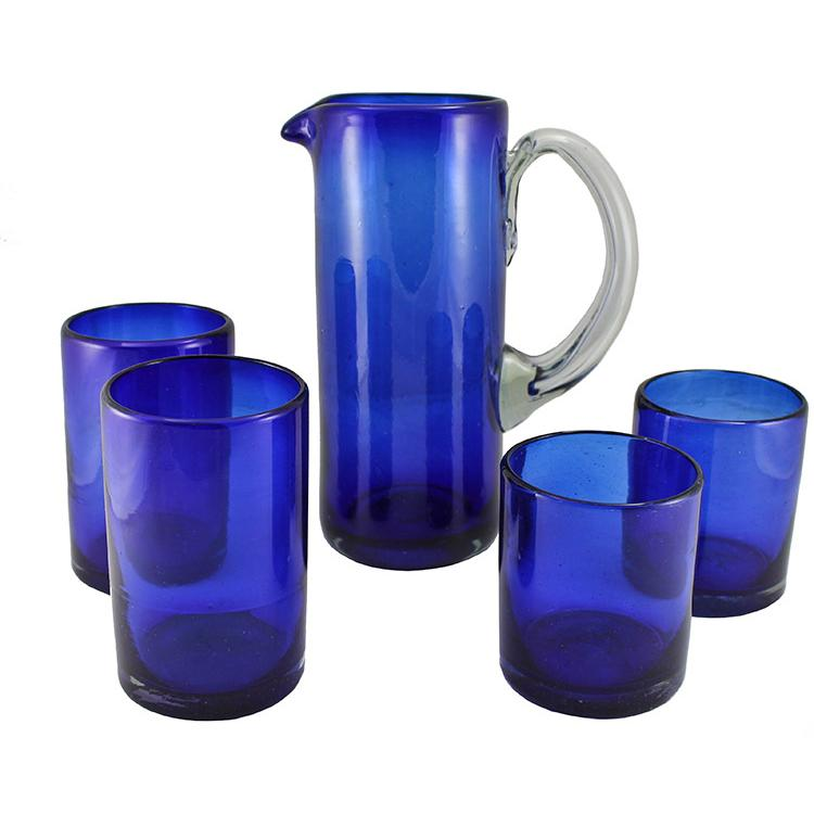 Handblown Glassware Collection Cobalt Blue