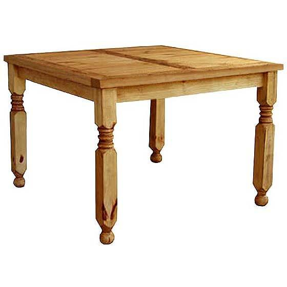 rustic pine collection square lyon dining table mes517