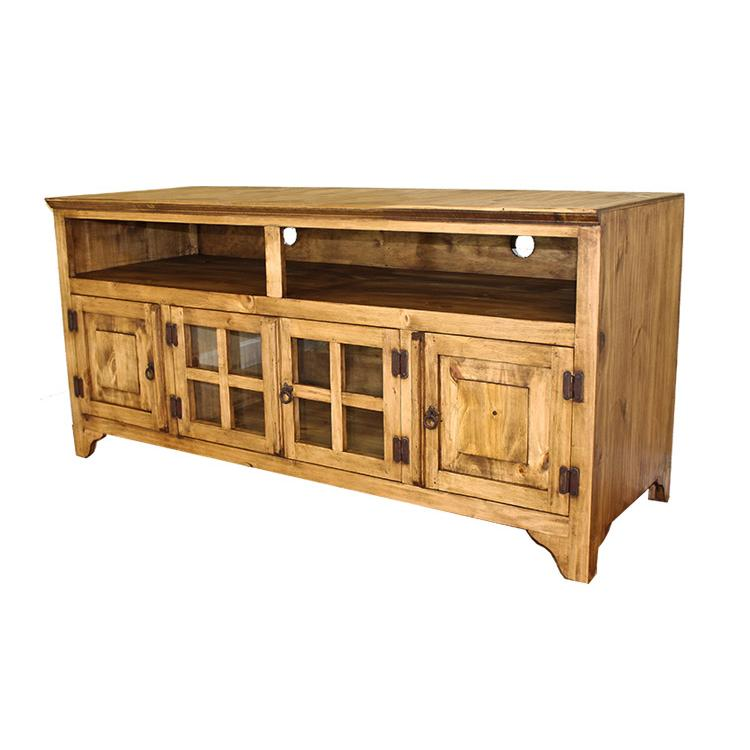 Rustic pine collection gregorio tv stand com60 Rustic tv stands