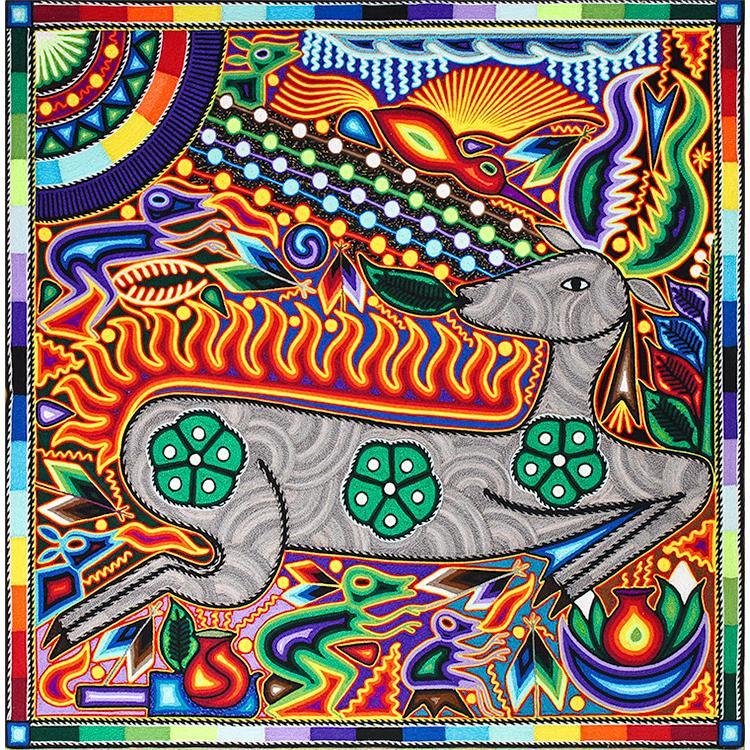 Mexican folk art huichol art yarn paintings 24 quot paintings