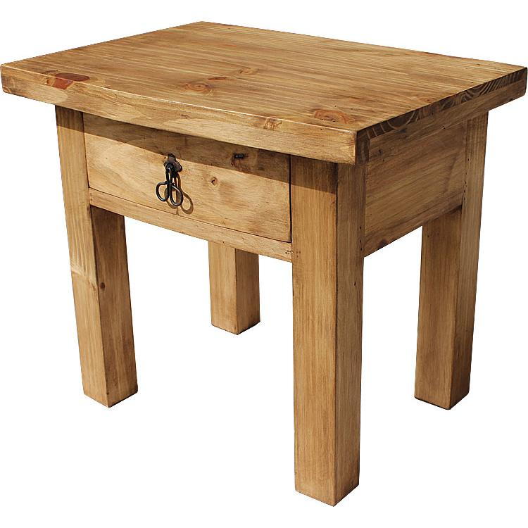 Rustic Pine Collection Juanillo End Table Lat29