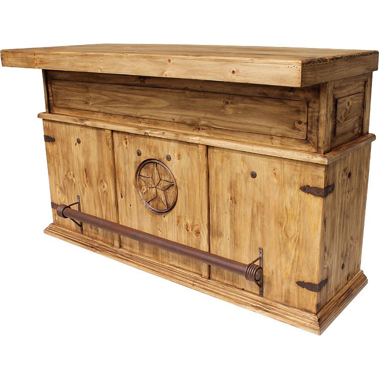 Rustic Pine Collection Cantina Star Bar Bar518