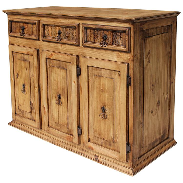 Rustic Pine Collection Small Classic Sideboard Com04