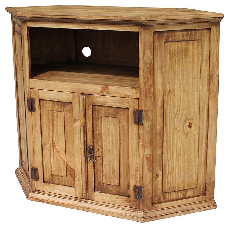 rustic pine collection corner tv stand com11. Black Bedroom Furniture Sets. Home Design Ideas