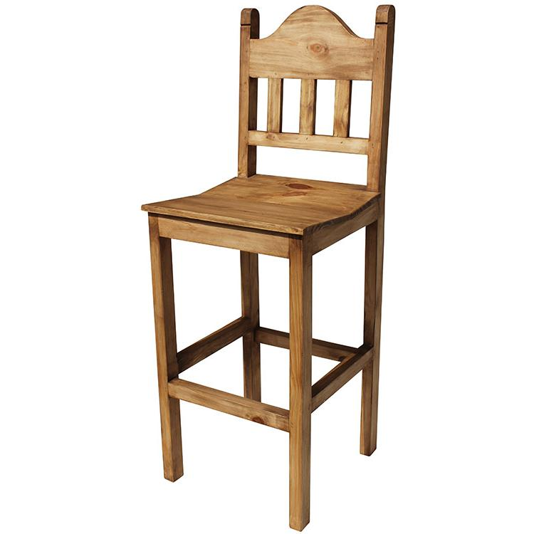 Rustic Pine Collection Tall Santana Bar Stool BAN14 : 1364845950 BAN14a from lafuente.com size 750 x 750 jpeg 36kB