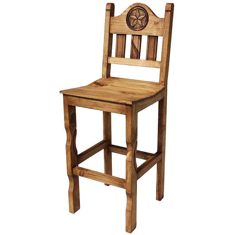 Rustic Pine Collection Tall Pueblo Star Bar Stool BAN999 : 1364846907 BAN999a from lafuente.com size 750 x 750 jpeg 41kB