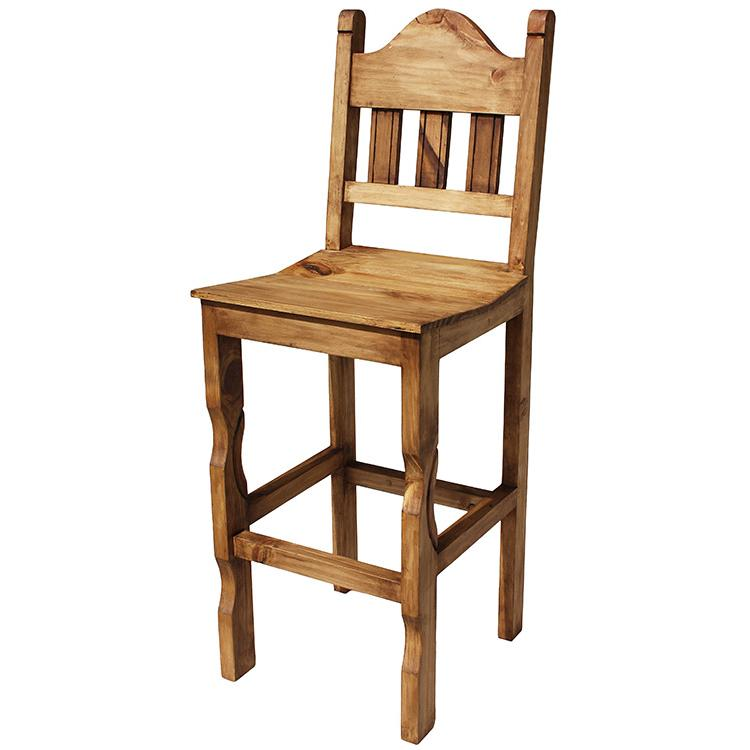 Rustic pine collection tall pueblo bar stool ban
