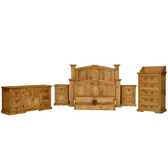 Rustic Pine Collection Mansion Bedroom Set BEDSET05