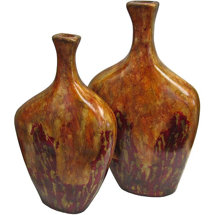 Decorative Pottery Cuadrada Cajeta Floor Vase Sfi08