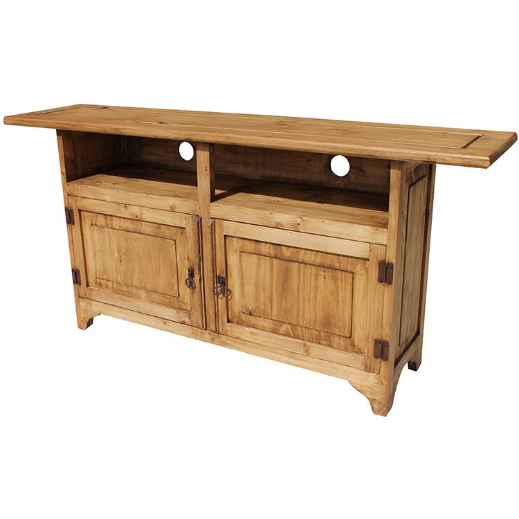 Rustic pine collection graciela tv stand com18 Rustic tv stands