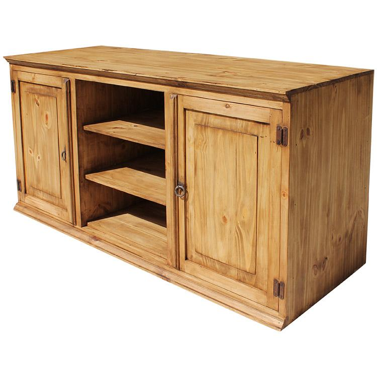 Rustic pine collection tecate tv stand com315 Rustic tv stands