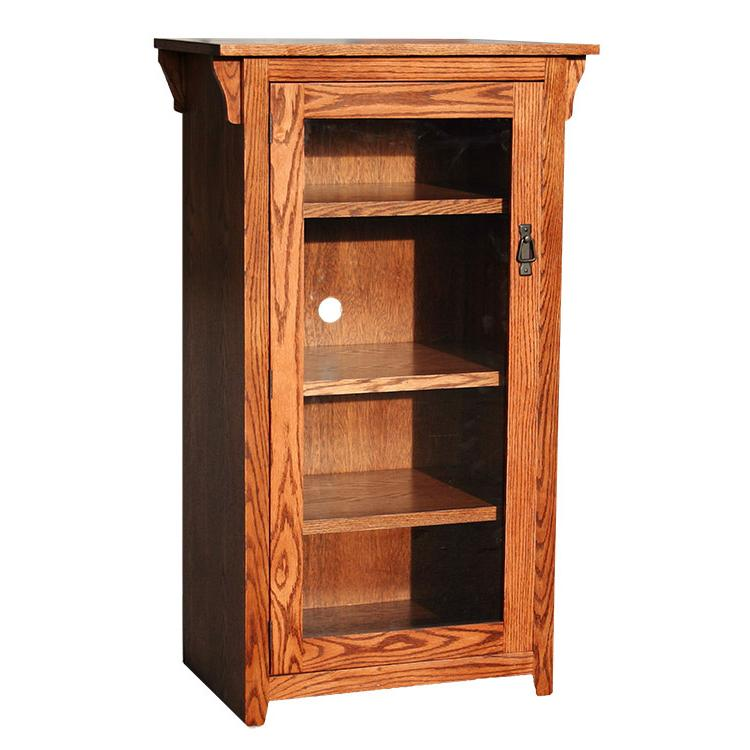 Charmant American Mission Oak Tall Stereo Cabinet