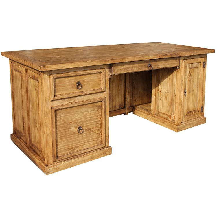 rustic pine collection computer deskw drawer esc60d