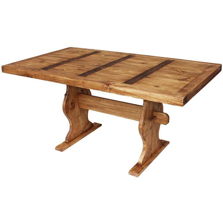 Rustic Pine Collection - Trestle Dining Table - MES01