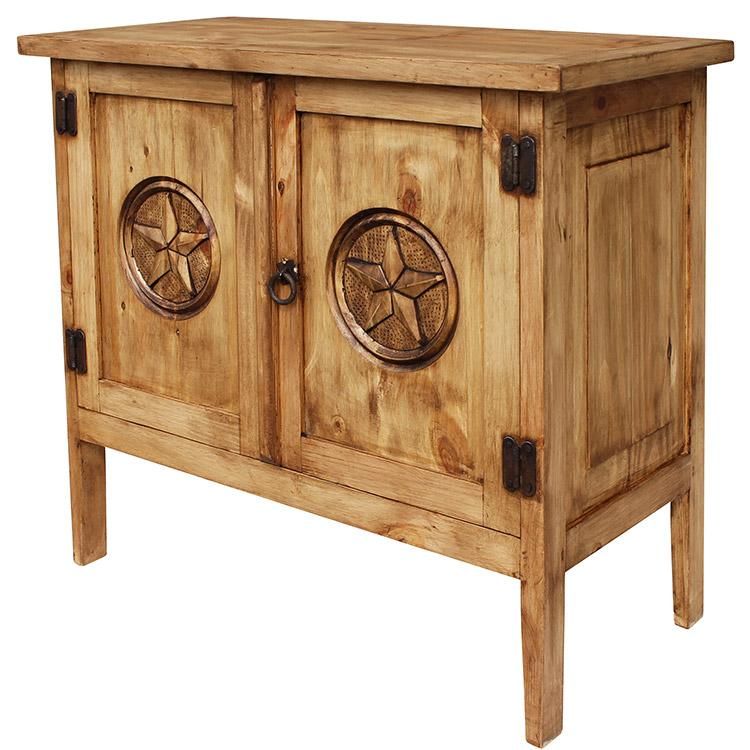 Rustic Pine Collection Chapo Star Cabinet Com514