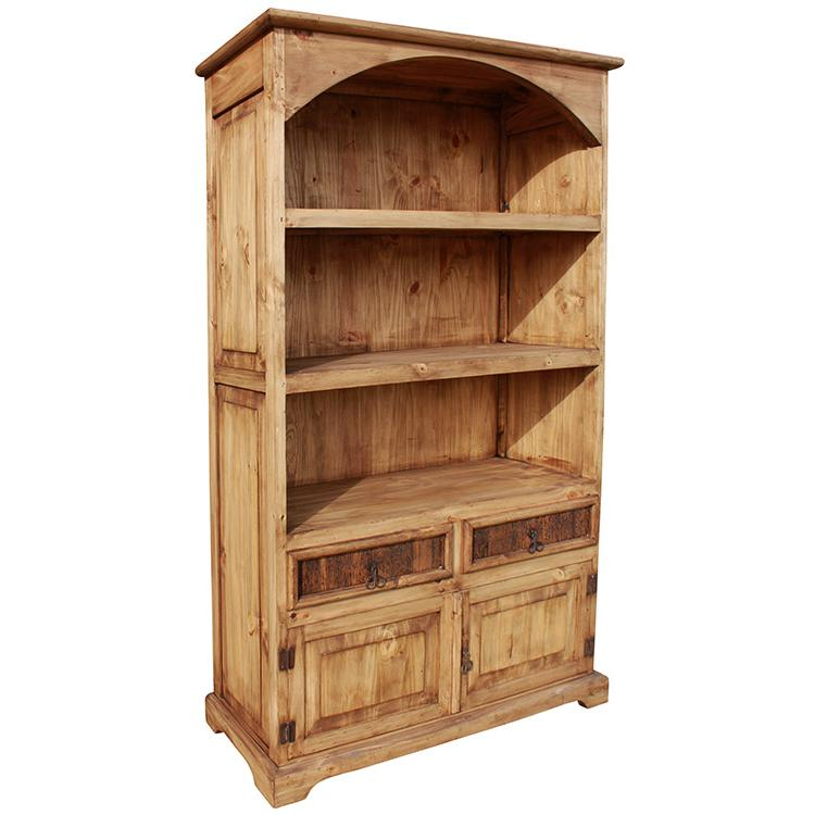 Arched Bookcase - Rustic Pine Collection - Arched Bookcase - LIB03