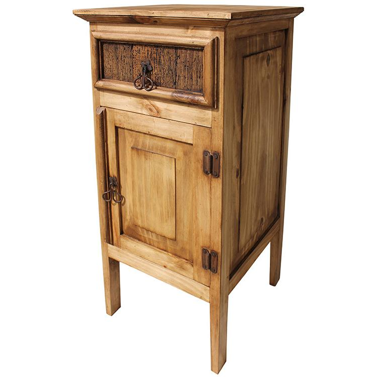 Rustic Pine Kitchen Cabinets: Telephone Stand W/ Drawer