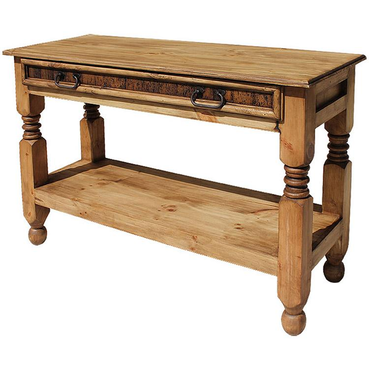 rustic pine collection lyon console table con09