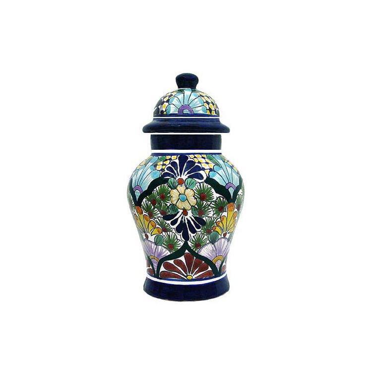 large talavera ginger jar siren shape - Ginger Jars