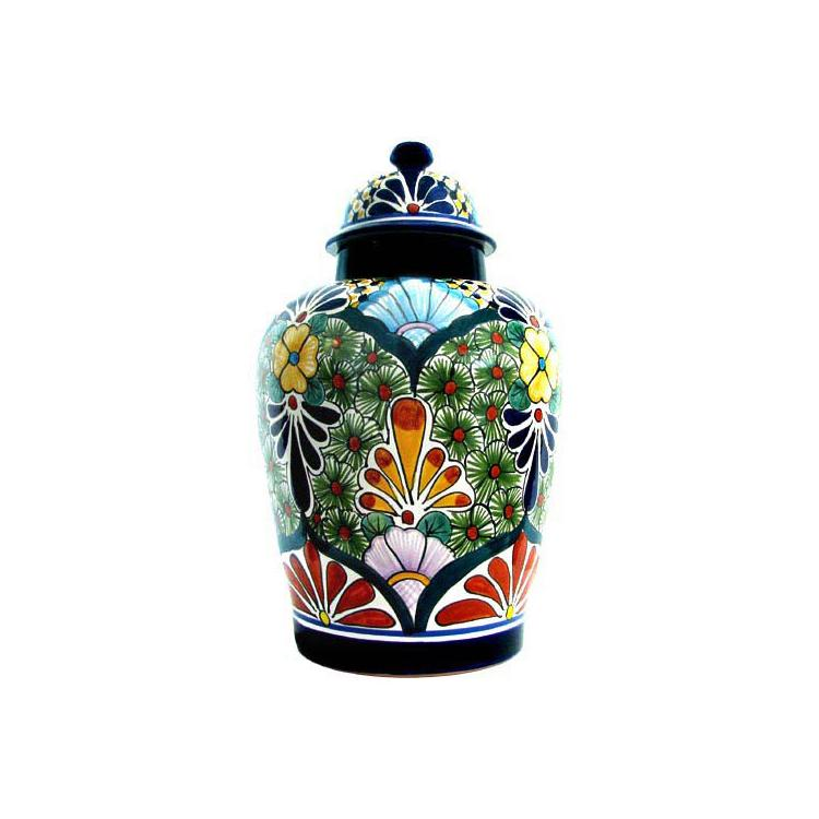 xl talavera ginger jar buxom shape - Ginger Jars