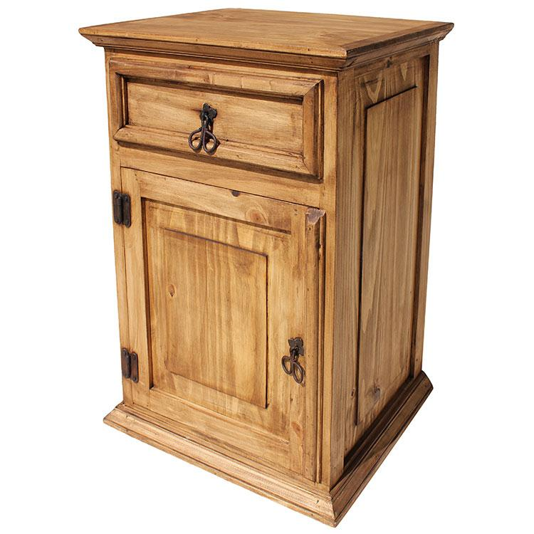 Rustic Pine Collection Tall Liso Nightstand