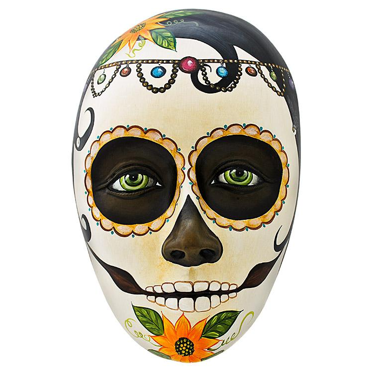 Ceramic Figures Day Of The Dead Mask Fam21