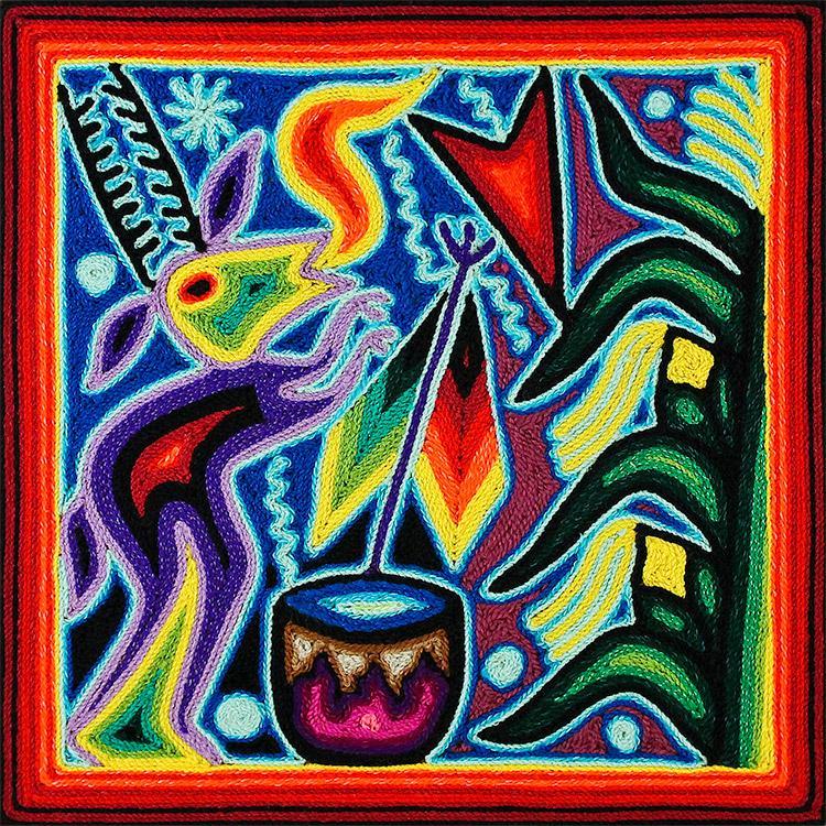 Mexican folk art huichol art yarn paintings 8 quot paintings