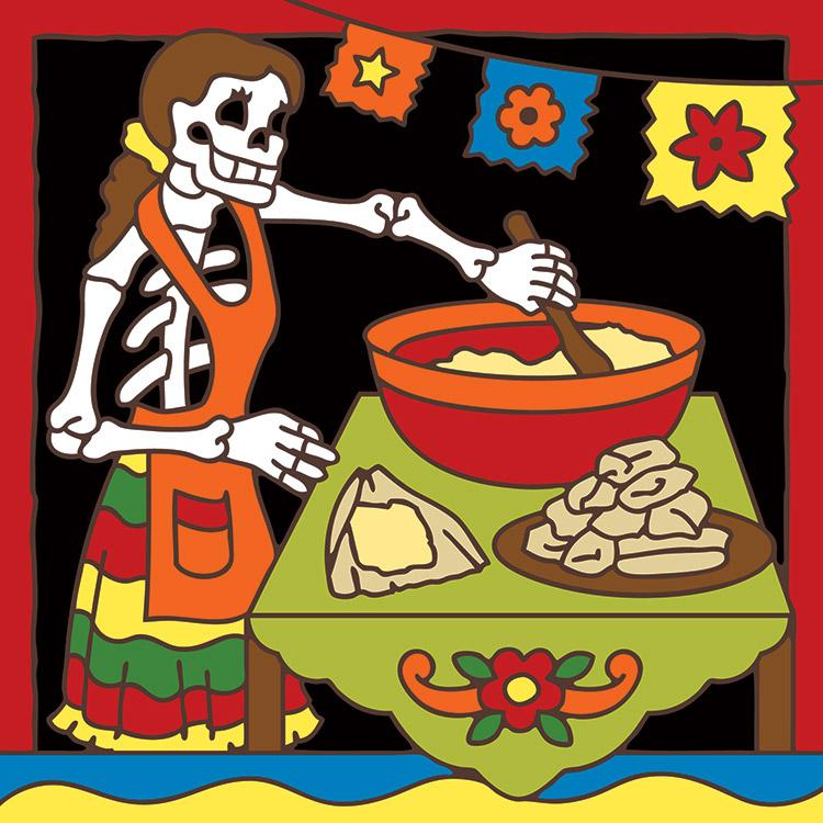 Day Of The Dead Bathroom Set: Day Of The DeadCeramic Tile