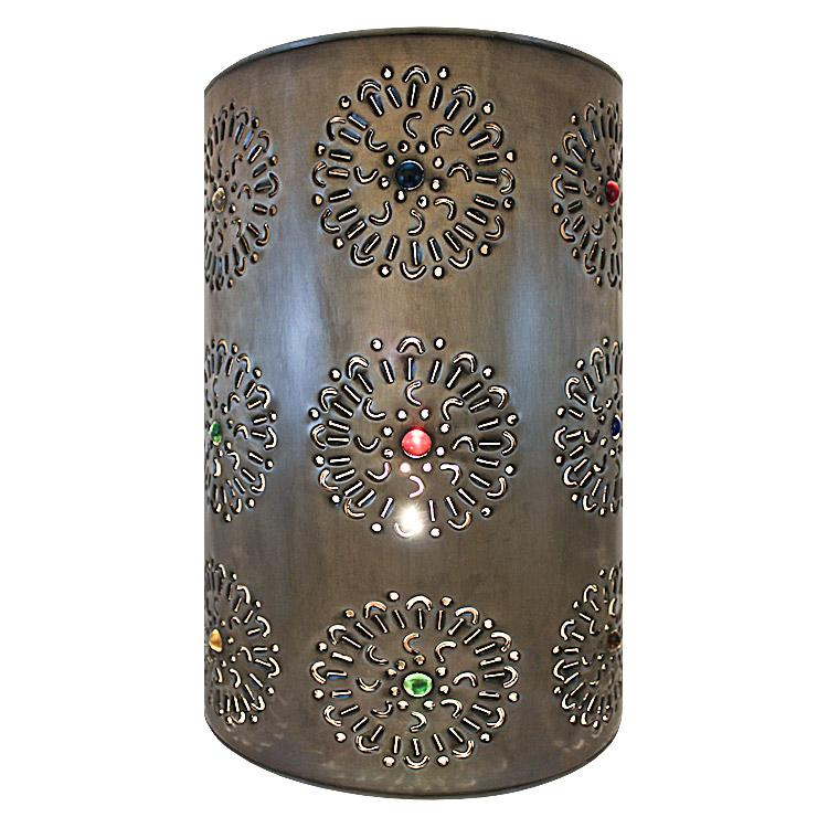 Mexican Metal Wall Sconces : Mexican Tin Lighting Collection - Flores Wall Sconce - LAMW05