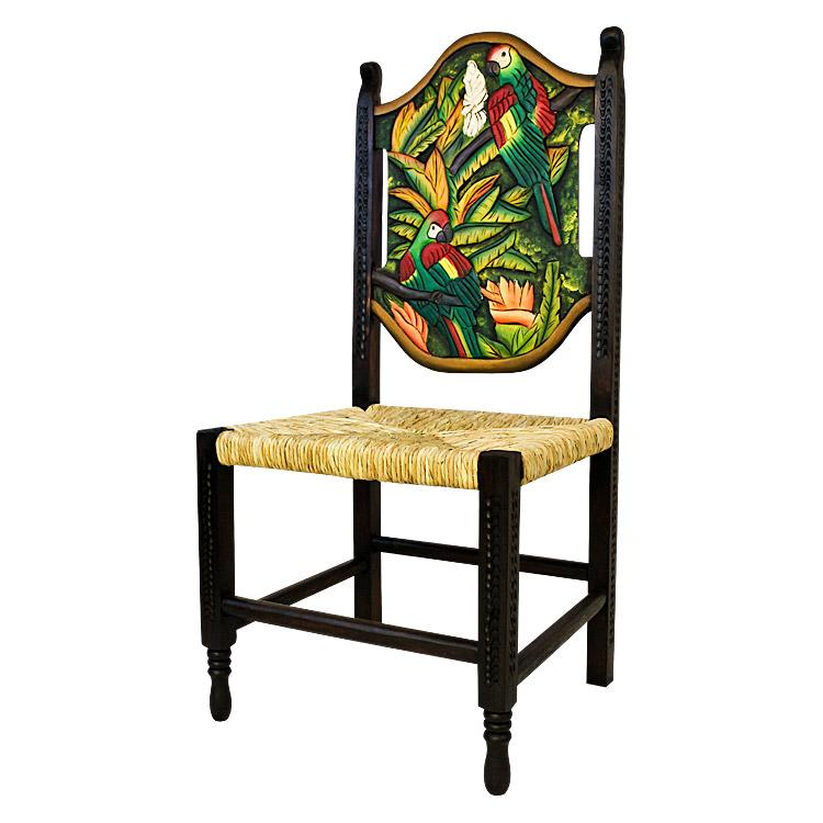 Carved Collection Large Woven Macaw Chair CC180