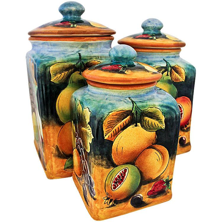 Fruit Canister Sets Kitchen