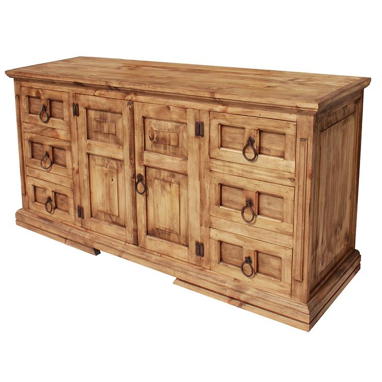Rustic Pine Collection Mansion Dresser Com07
