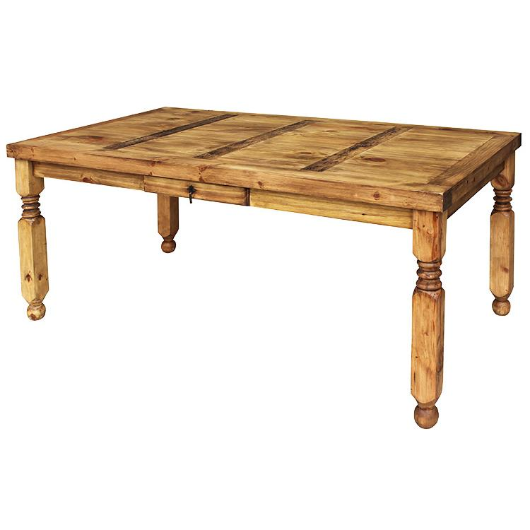 Rustic pine collection lyon dining table mes24 for Mexican style coffee table