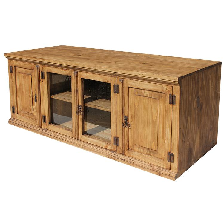 rustic pine collection largesanta tv stand com360