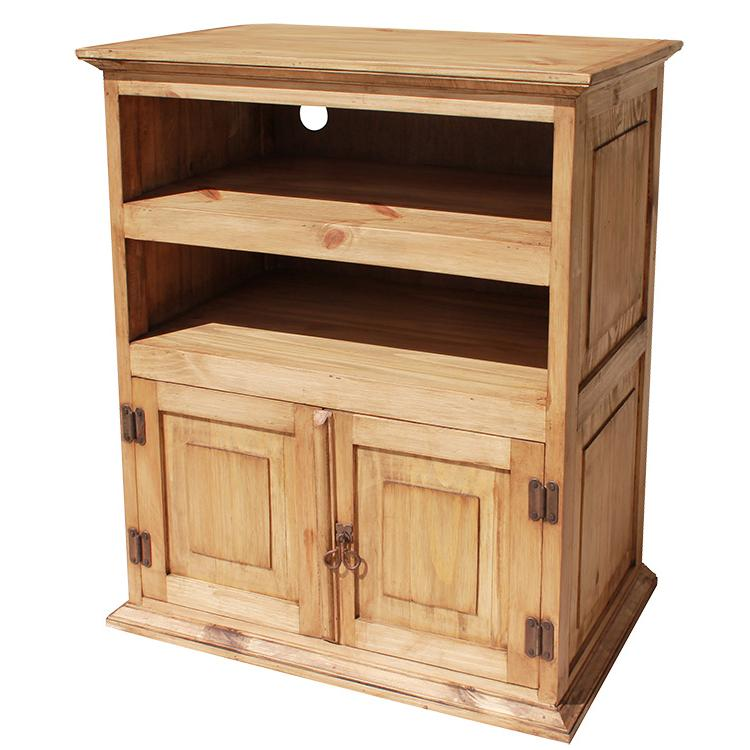 Rustic Pine Collection Tall TV Stand 220
