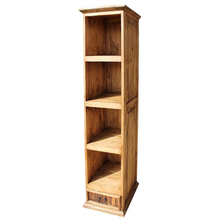 rustic pine collection small classic bookcase lib106