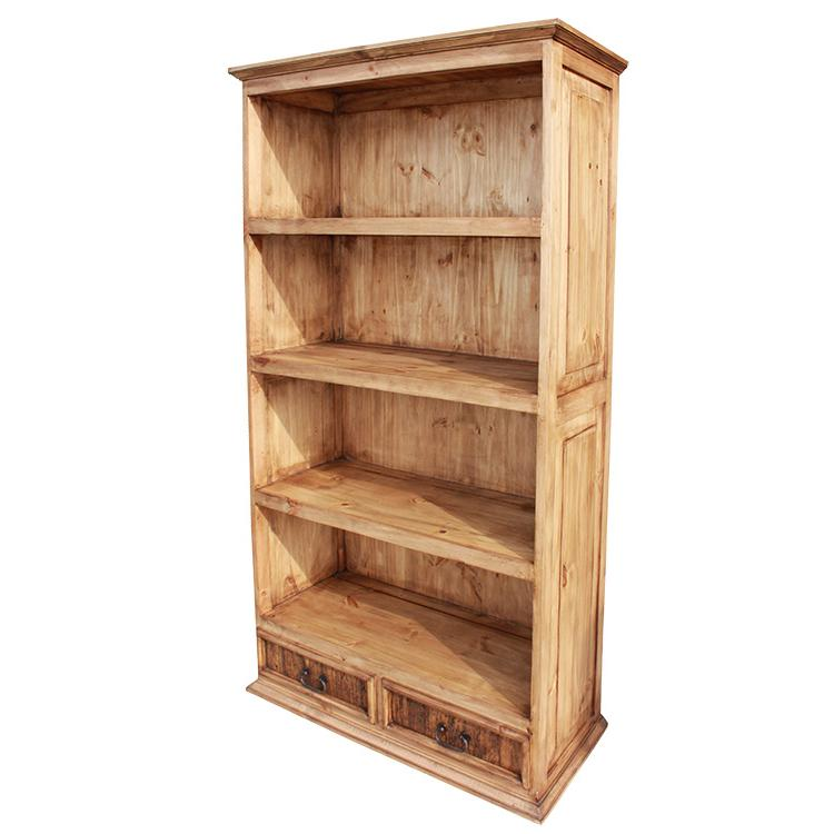Rustic pine collection largeclassic bookcase lib